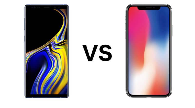 Note-9-VS-iPhoneX